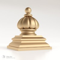 decorative finial knob 3d model