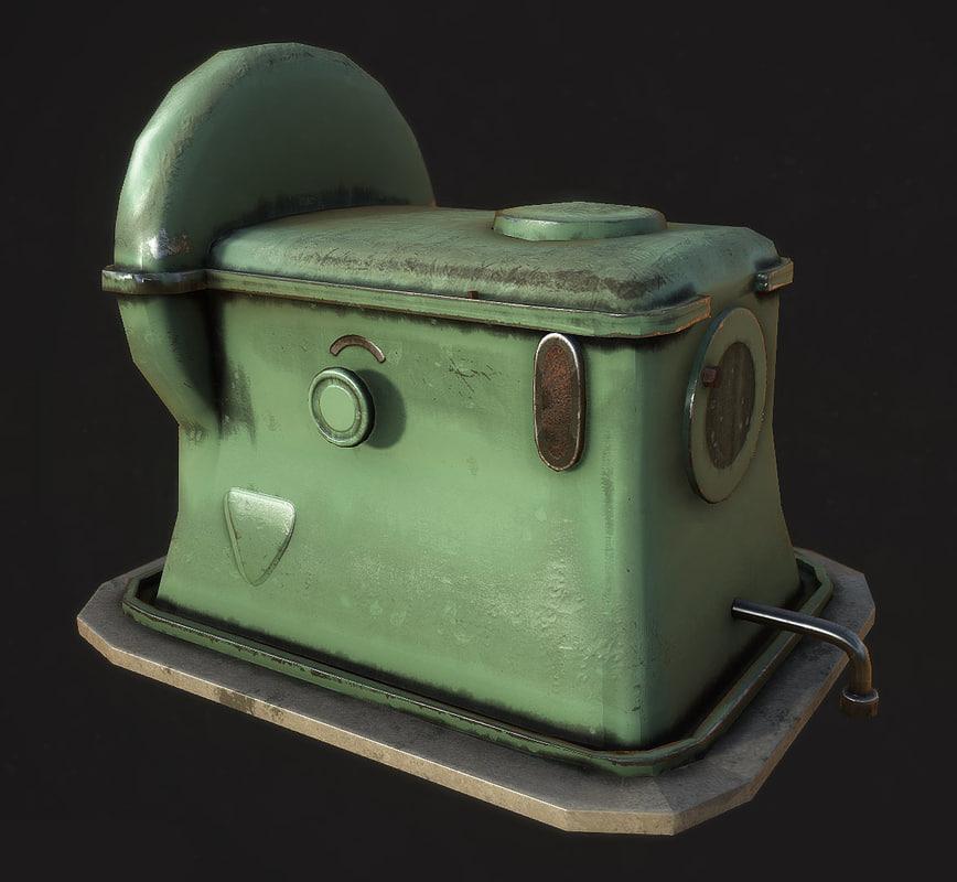 3d steam crank