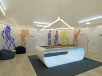 3d model modern billiard room interior