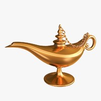3d model alladin magic lamp