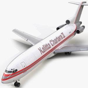 boeing 727-200f kalitta air 3ds
