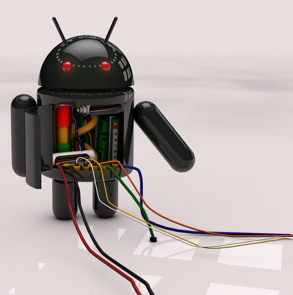 black android robot c4d
