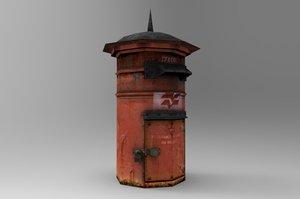 3d model letter box