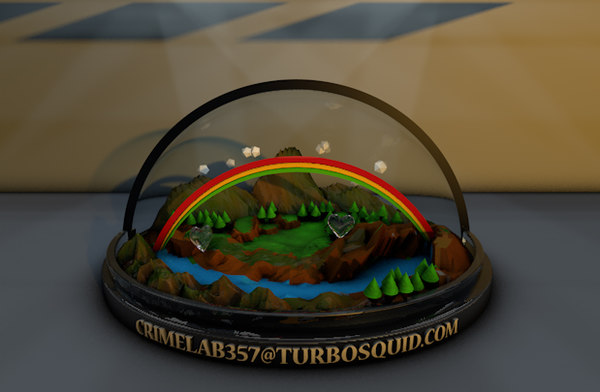 low-poly world glass 3d model