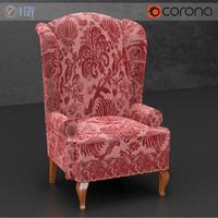 3d english armchair