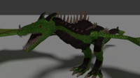 dragon green 3d model