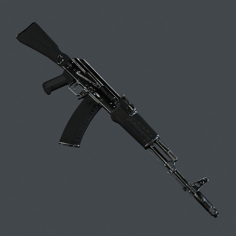 ready automatic rifle rig 3d model
