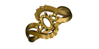 gold ring 16 3d 3ds