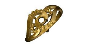 3d model gold ring 17