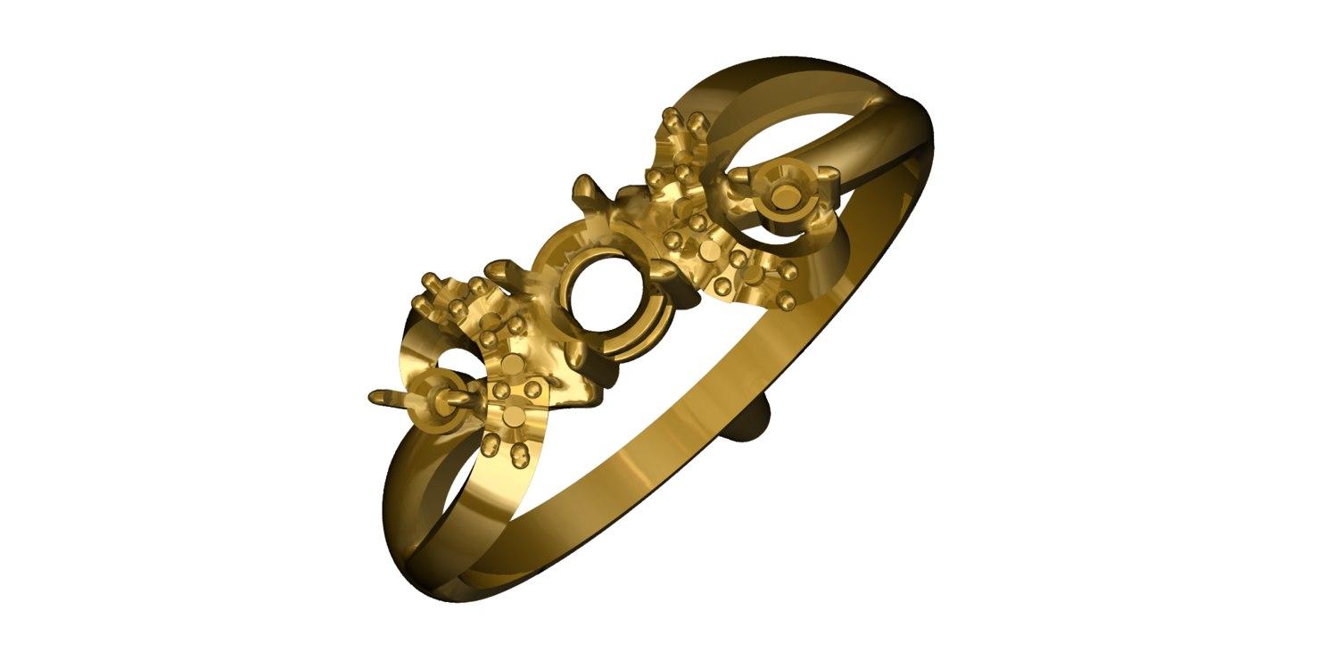 3d gold ring 18 model