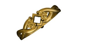 gold ring 3d 3ds