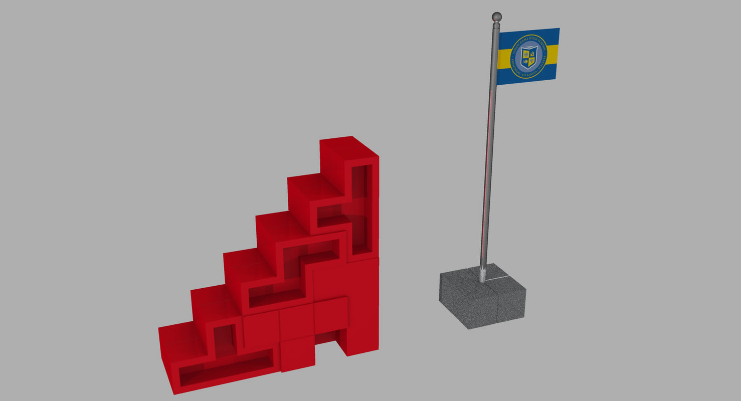 stairs vghs 3d obj