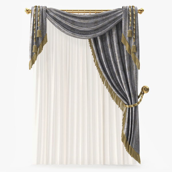 curtain modeled fabric 3d max