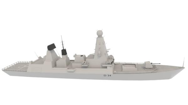3d hms type 45