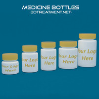 3d model medicine bottles