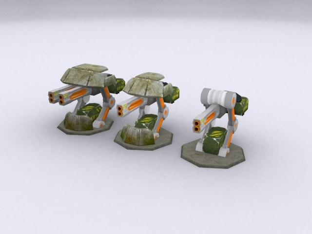 3d toon grades turet model