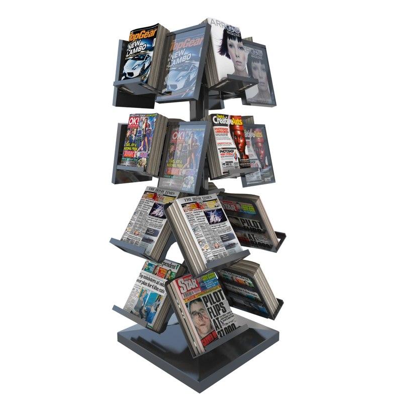 newspaper magazine stand max