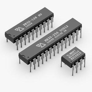 dip chip 3d obj