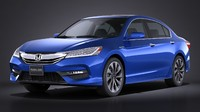 3d model honda accord hybrid