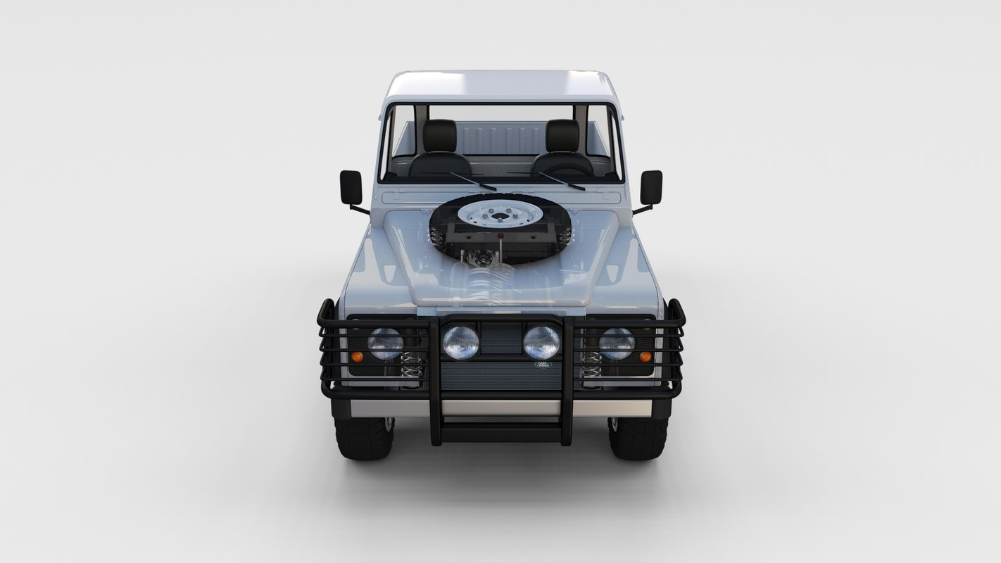 3d Land Rover Defender 90 Pick Up Full Seethrough