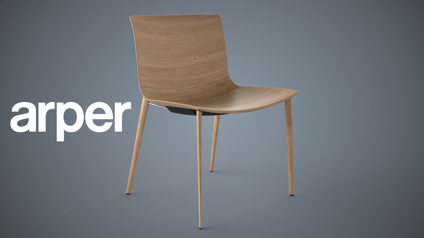 arper 53 chair catifa 3d model