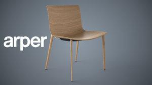 arper 53 chair catifa 3d model