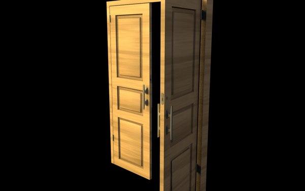 3d classic russian door