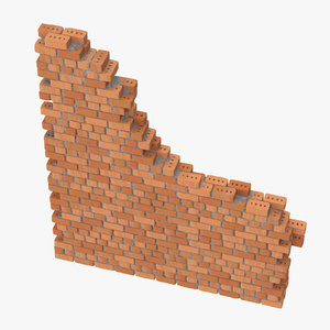 3d model brick section 02