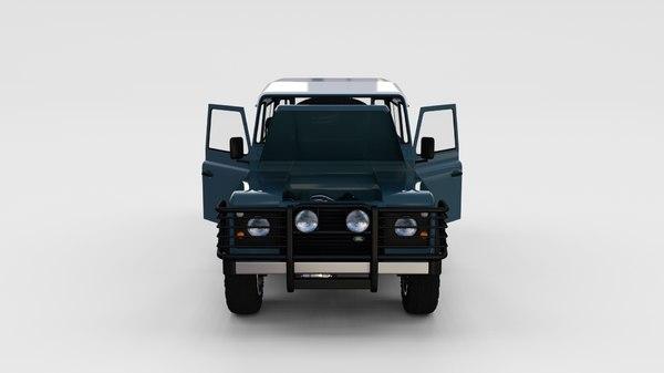 3d model land rover defender 90