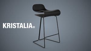 kristalia bcn stool 3d max