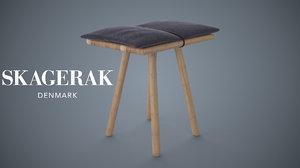 3d skagerak georg stool model