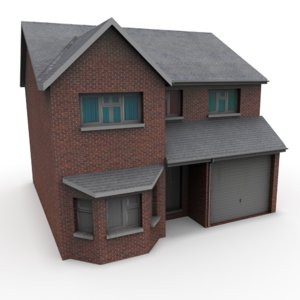 house detached 3d obj
