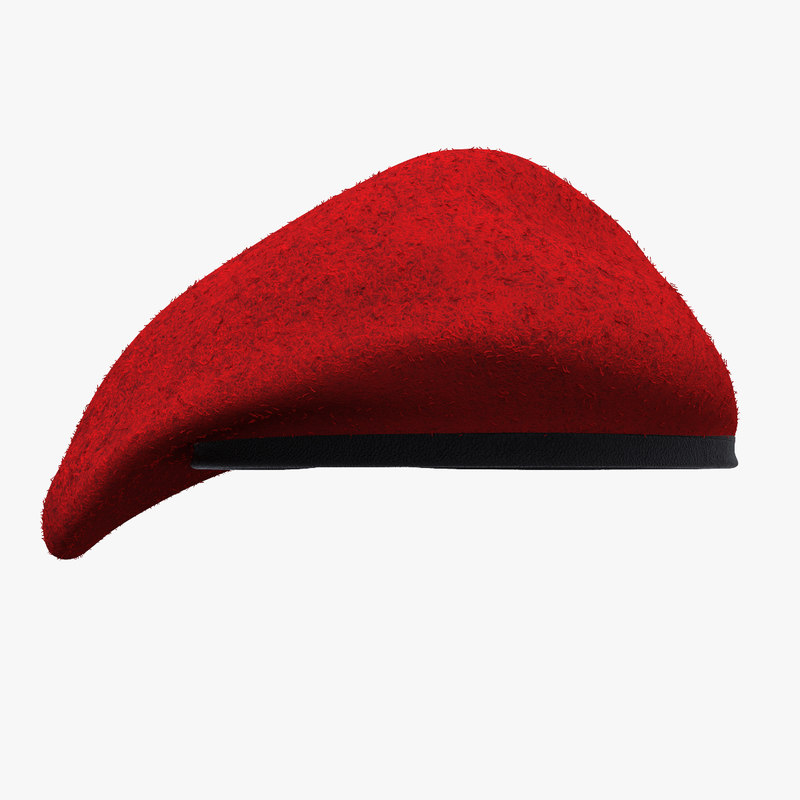 military red beret used 3d 3ds