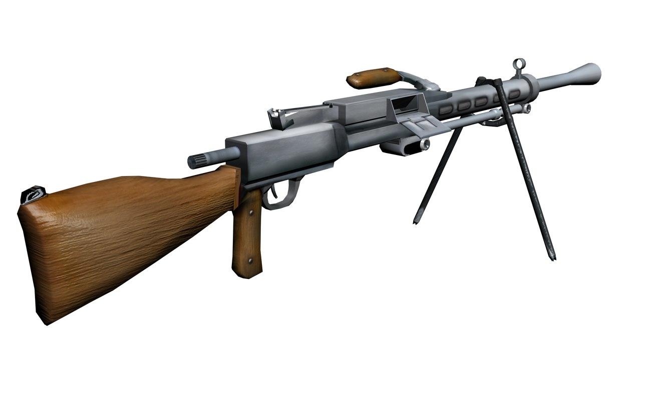 degtyaryov machine gun rp-46 3d model