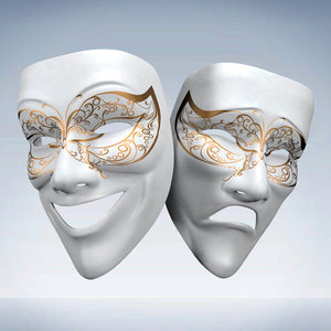 theater mask obj
