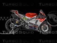 3d ducati motorbike
