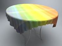 glass table cloth 3d 3ds