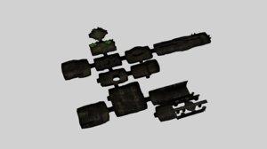 3d modular dungeon model