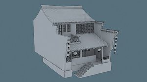 3d model china house01