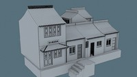 3d china house02 model