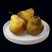 Pears on the plate