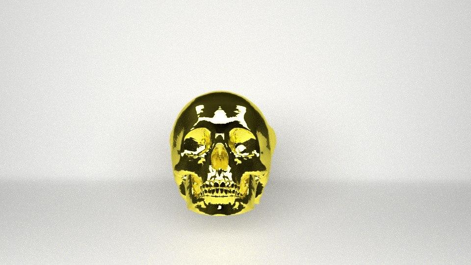 free skull ring 3d model