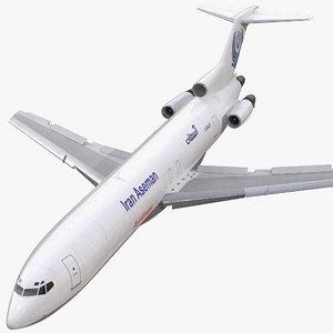 3d boeing 727-200f iran aseman
