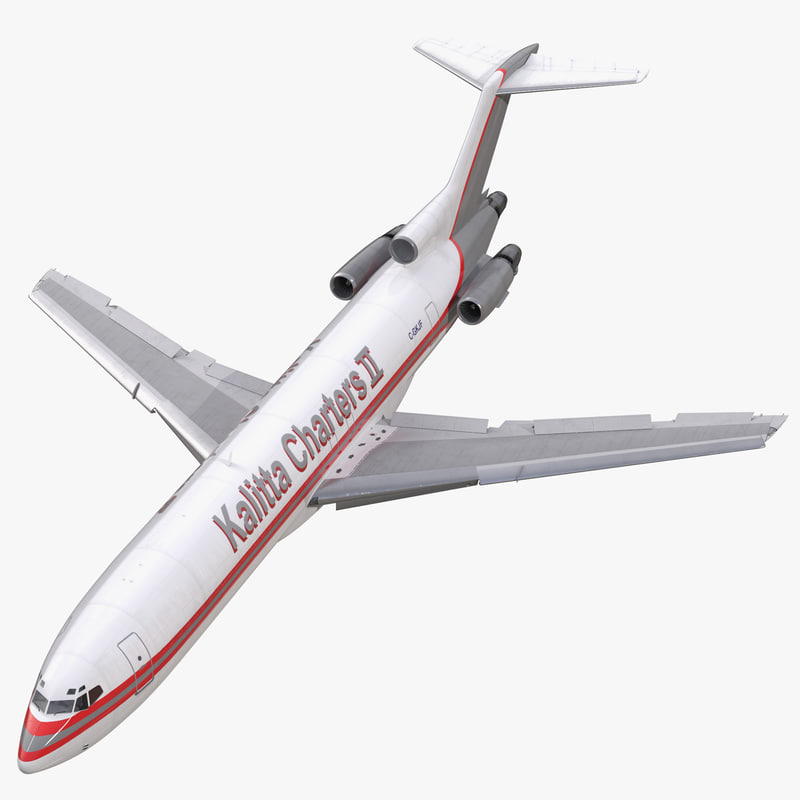 boeing 727-200f kalitta air 3d model