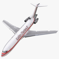 boeing 727-200f kalitta air 3d model