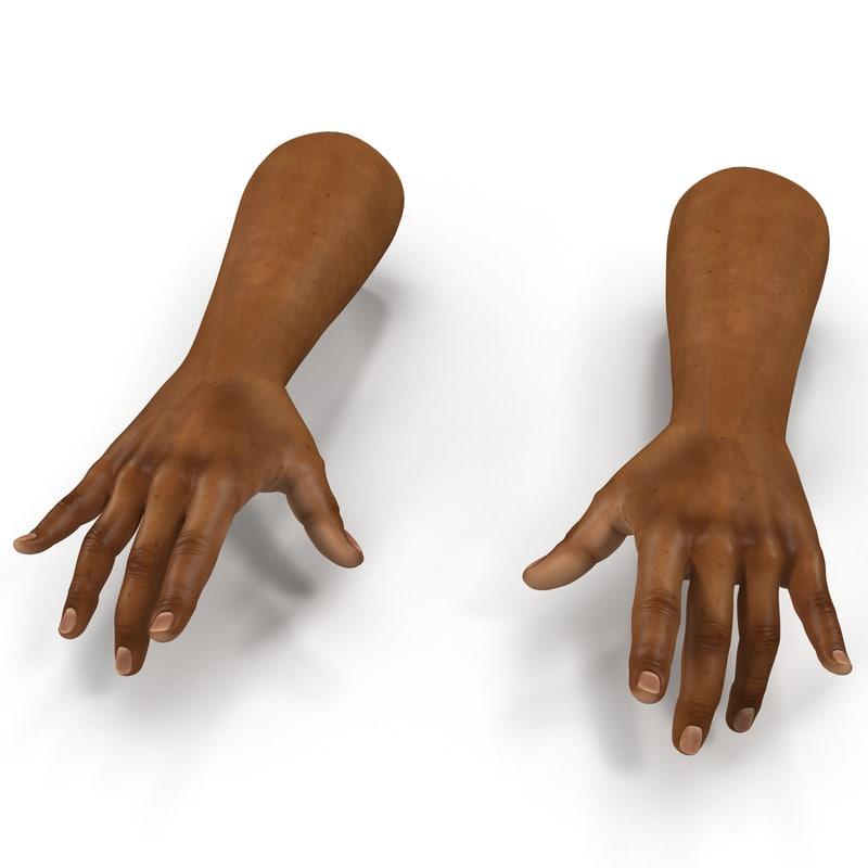 3d max african man hands 3