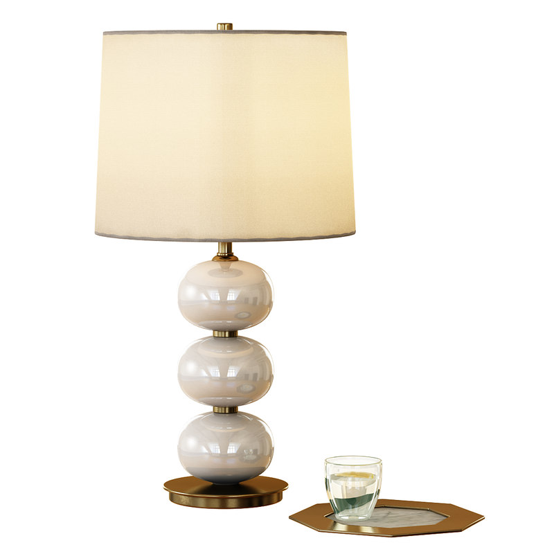 3d abacus table lamp - model