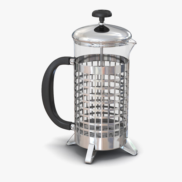 french press 3 3d max