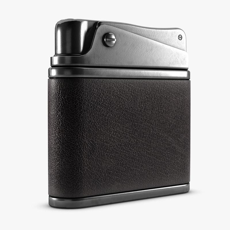 3d model vintage pocket lighter