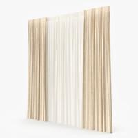 3d model curtain modeled